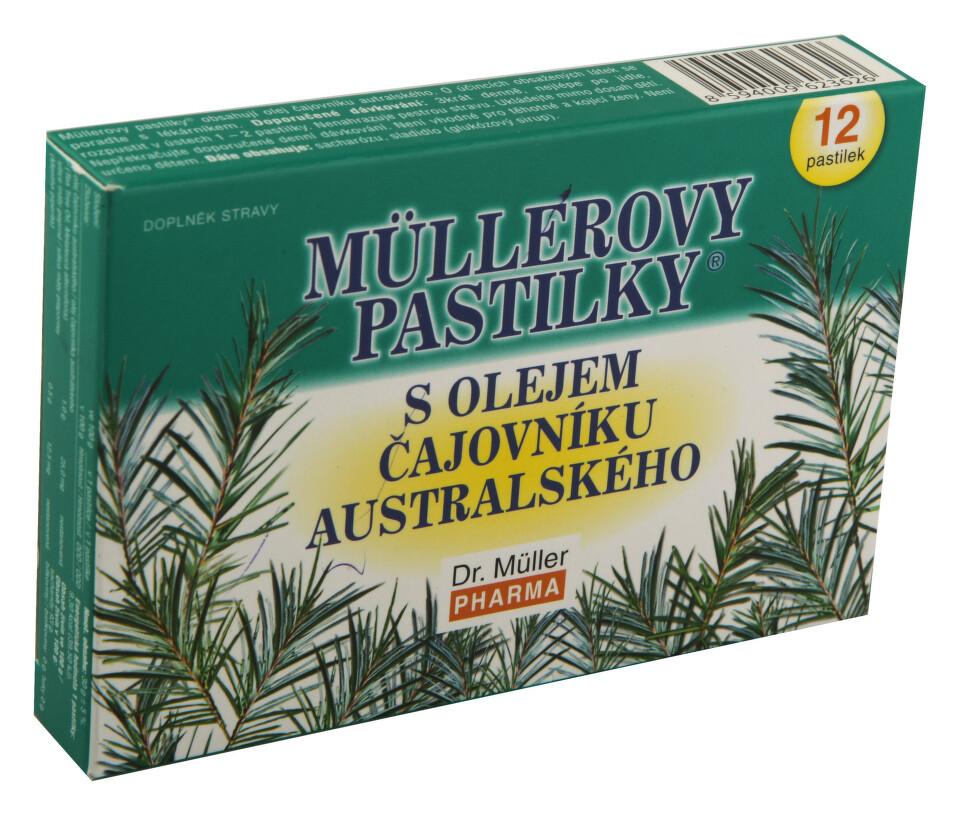 Müllerovy pastilky s TTO 12ks
