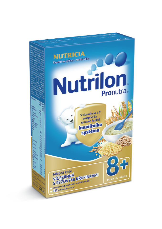 Nutrilon kaše Pronutra vícezr. s rýž.křup. 225g 8M