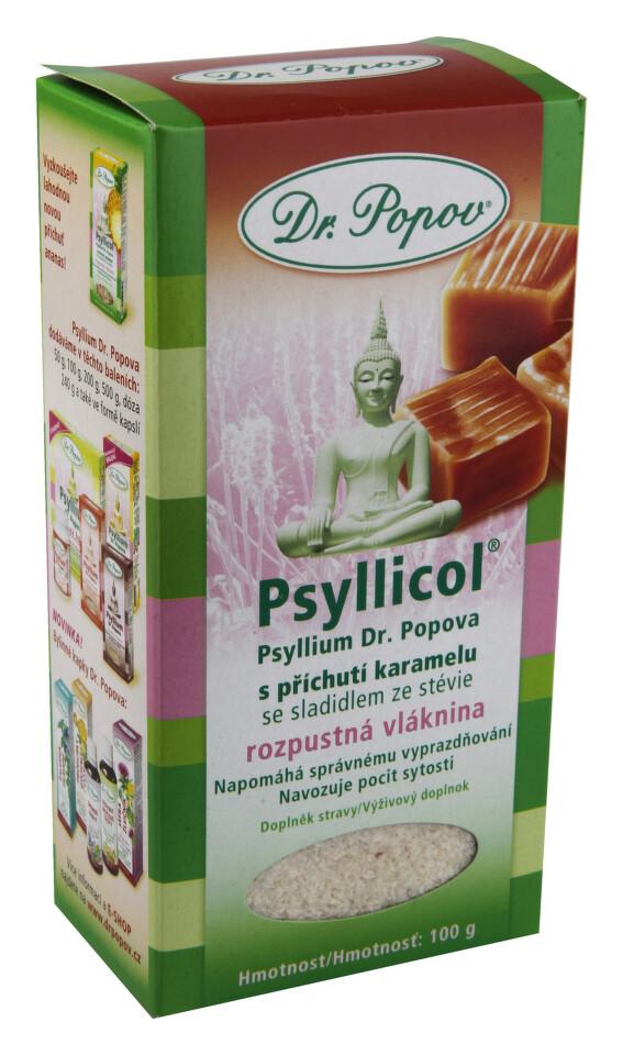 Dr.Popov Psyllicol příchuť karamel 100g