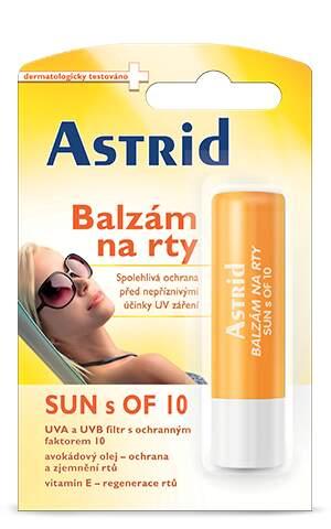 Astrid balzám na rty SUN OF10 4.8g