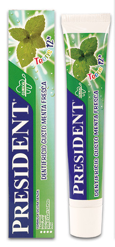 PresiDENT Zubní pasta Teens 12+ (Fresh mint) 50ml