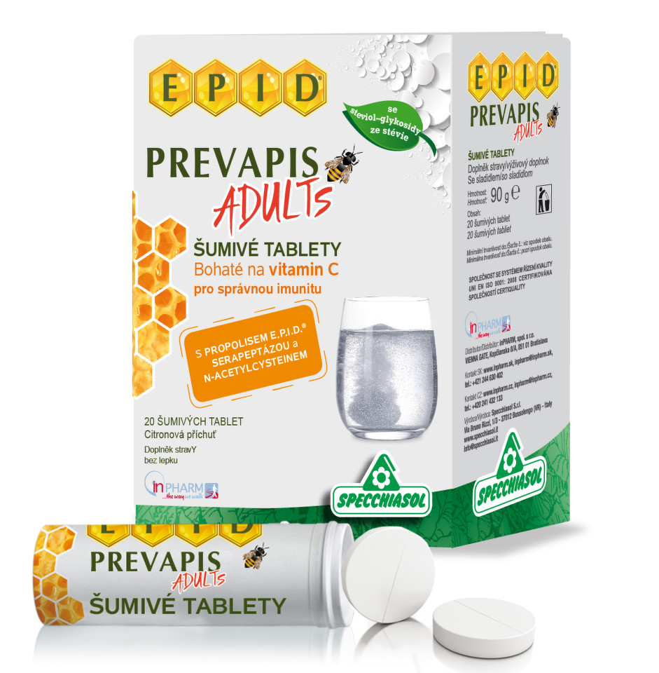 PREVAPIS ADULTS šumivé tablety tbl.20