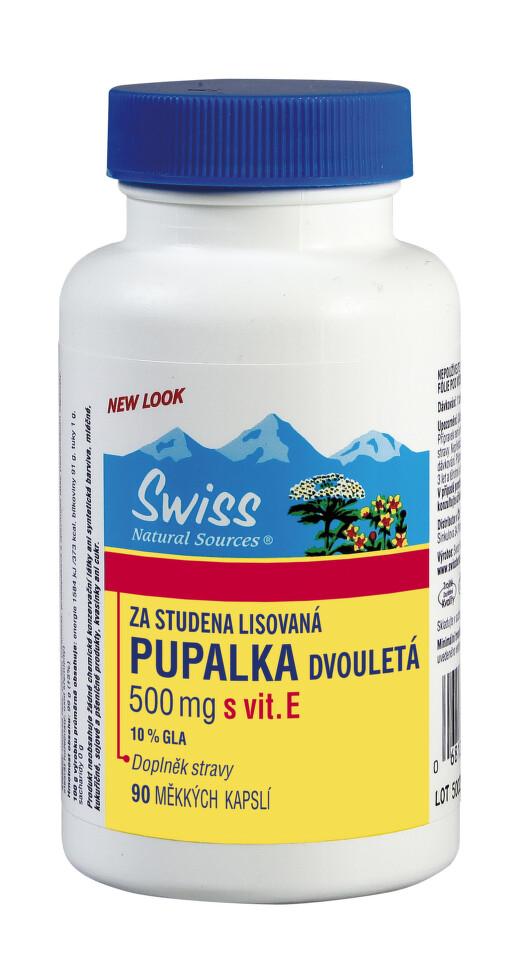 Swiss PUPALKA dvouletá 500mg+vit.E cps.90