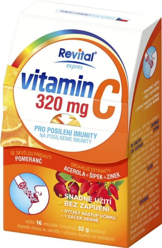 Revital Vitamin C 320mg+Acerola+Šípek+Zinek 16sáč.