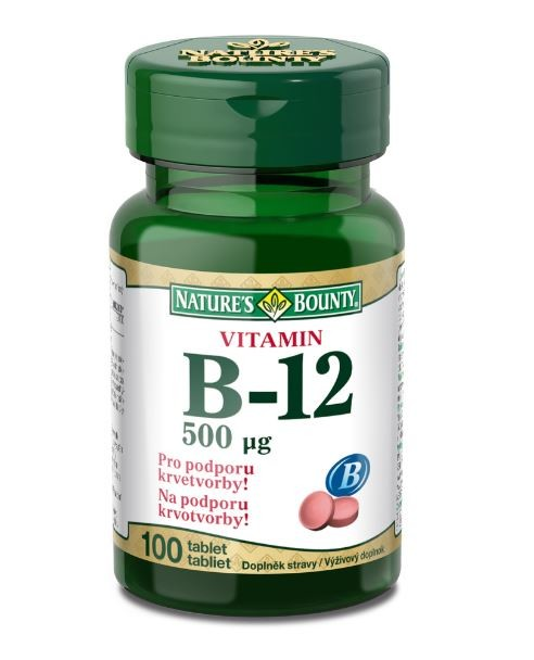 Natures Bounty Vitamin B12 tbl.100x500mcg