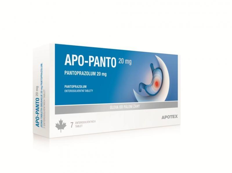 APO-PANTO 20MG enterosolventní tableta 14