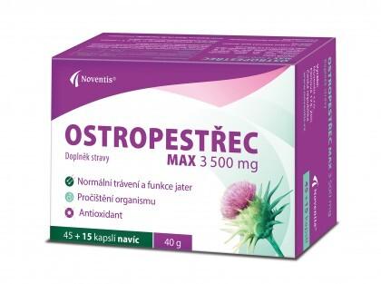 Ostropestřec Max 3500 mg cps. 45+15