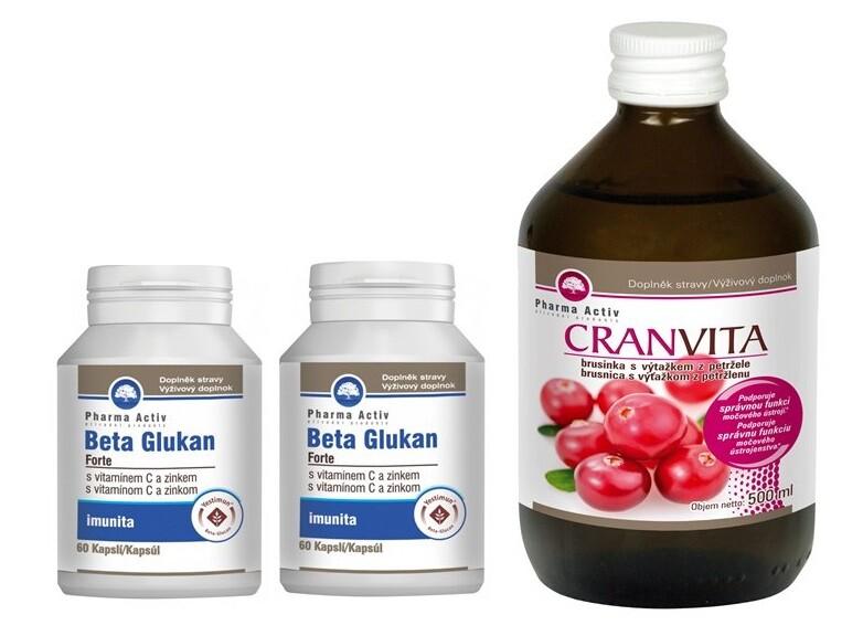 Beta Glukan Forte 1+1 cps.60 + Cranvita 500ml 2+1. Platí v e-shopu BENU.cz do 31. 1. 2020 nebo do vyprodání zásob.