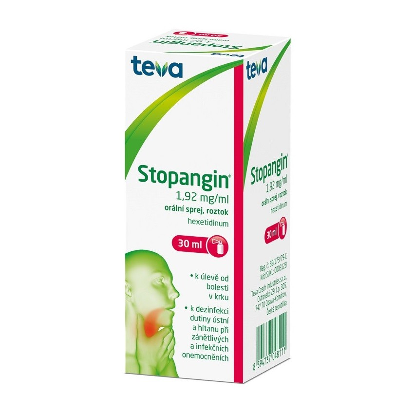 STOPANGIN 1,92MG/ML sprej 30ML