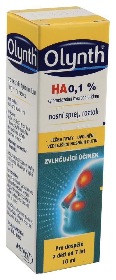 OLYNTH HA 0,1% 1MG/ML nosní podání SPR SOL 10ML