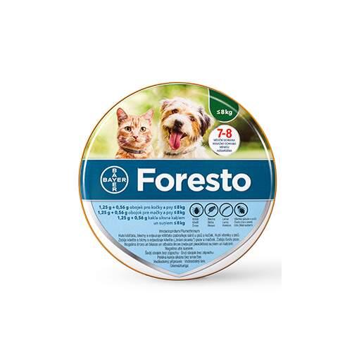 Foresto 1.25g+0.56g obojek kočky+psy do 8kg 38cm