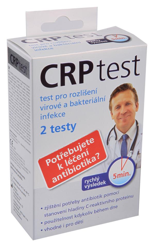 CRP test pro rozlišení virové a bakter.infekce 2ks