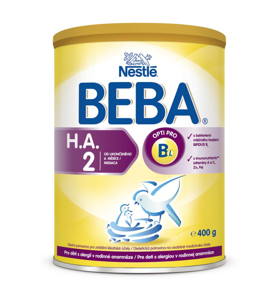 NESTLÉ Beba H.A.2 400g NEW + dárek NESTLÉ Beba H.A.2 400g NEW zdarma