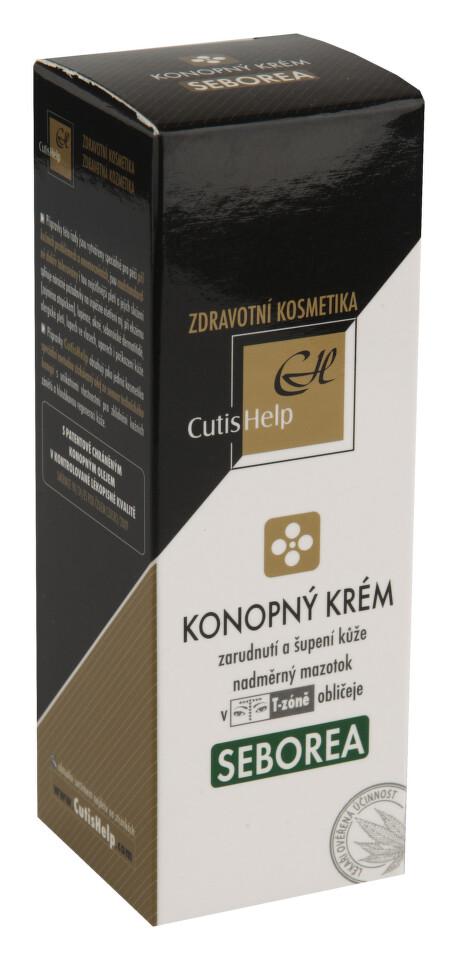 CutisHelp Health Care S konopný krém při seboroické dermatitidě na regulaci kožního mazu 30 ml