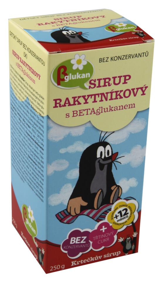 Krtečkův sirup Rakytníkový s betaglukanem 250g