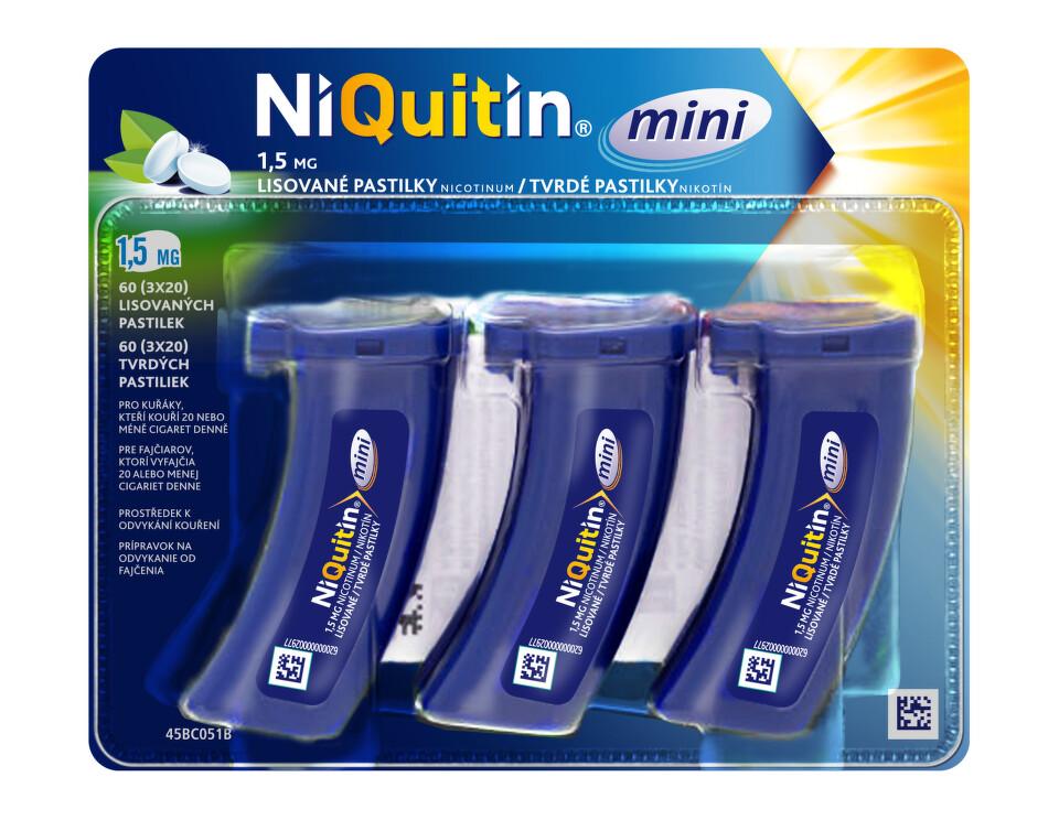NIQUITIN MINI 1,5 MG orální podání lisovaná pastilka 60X1.5MG