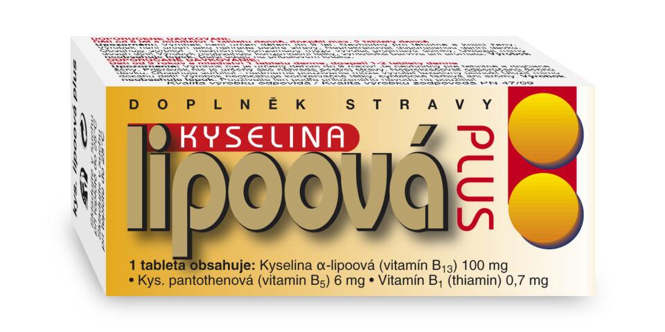 Kyselina lipoová Plus tbl.60