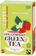 Čaj Clipper green tea with Strawberry flav.20x2g
