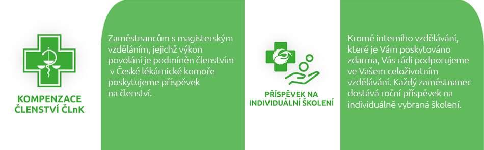 Zaměstnanecké benefity BENU - kompenzace členství v ČLnK, příspěvky na školení