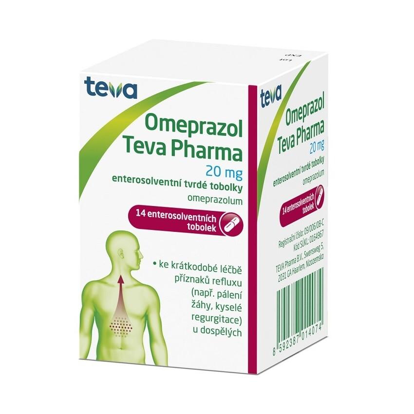 OMEPRAZOL TEVA PHARMA 20 MG perorální enterosolventní tvrdé tobolky 14X20MG
