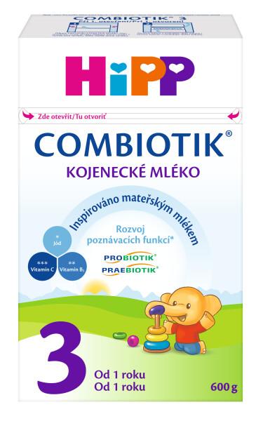 HiPP MLÉKO HiPP 3 JUNIOR Combiotik 600g Při nákupu 4 kusů Hipp Combiotik 2,3,4, 600 g. získate navíc dárek - dětský svačinový hrneček. Akce platí do vyprodání zásob.