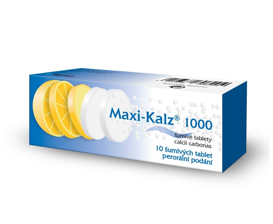 MAXI-KALZ 1000 1000MG šumivá tableta 10