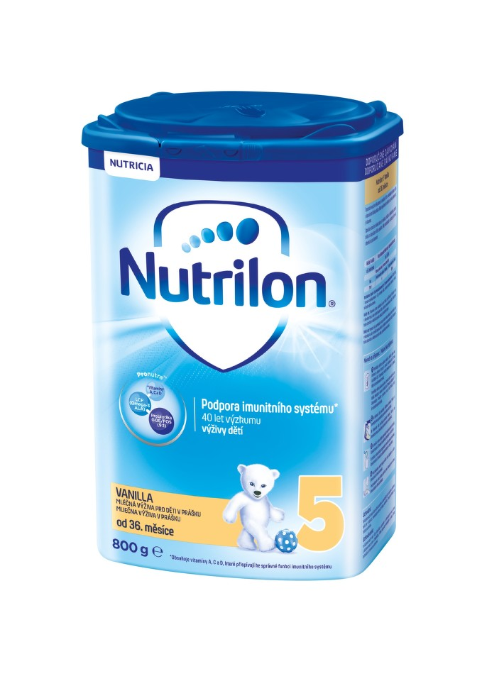 Nutrilon 5 Pronutra Vanilla 800g + při objednání 3ks cena 319,- za kus
