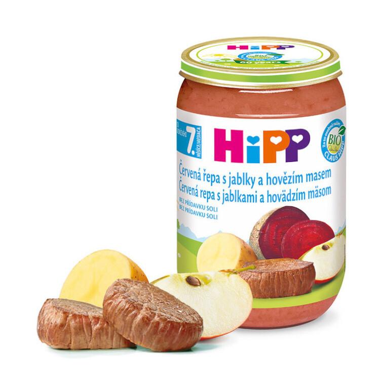 HiPP JUNIOR BIO Červ.řepa s jablky a hov.m. 220g C-111