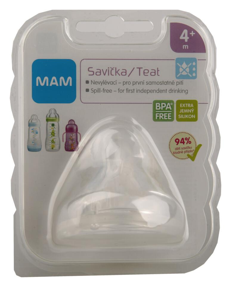 MAM Savička na lahev nevylévací 4+ měs.