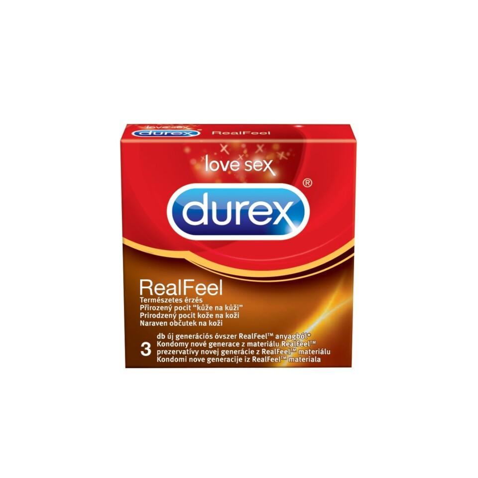 Prezervativ Durex Real Feel 3 ks