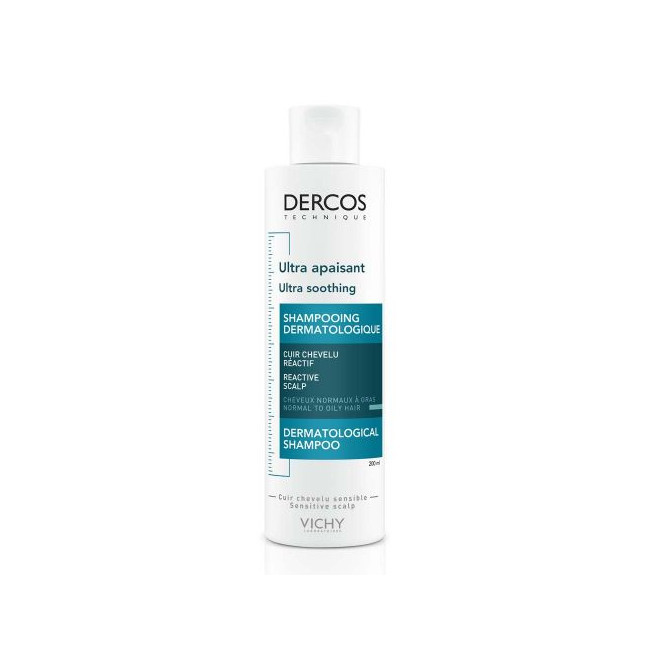 VICHY DERCOS Ultrazklidňující šampon pro normalní až mastné vlasy 200 ml