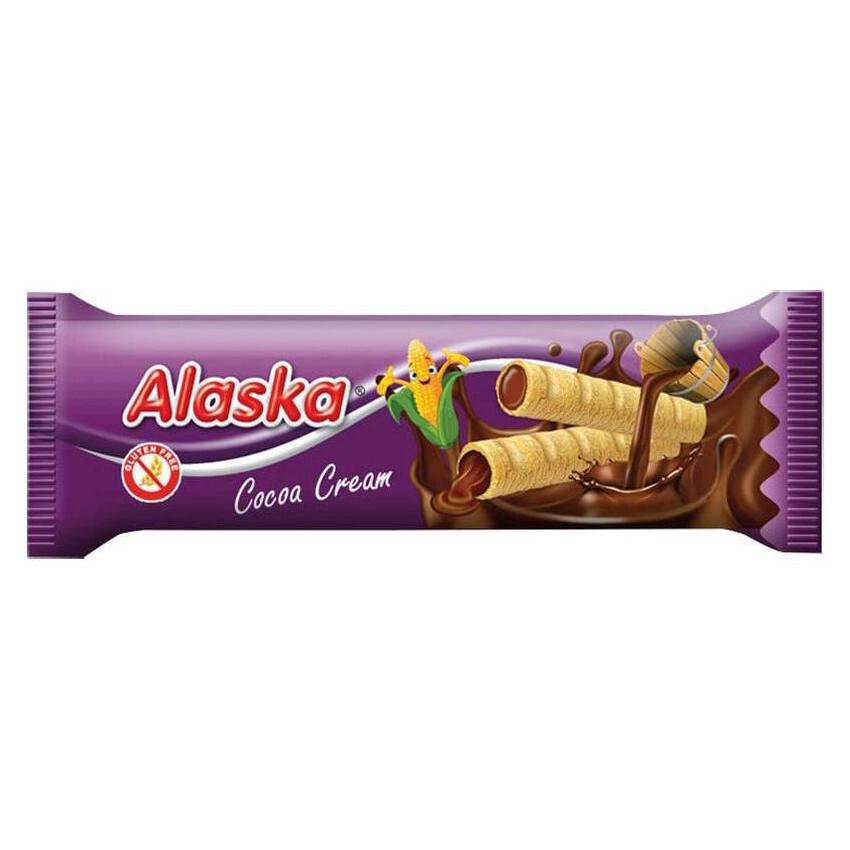 Kukuřičné trubičky Alaska kakaové 18g