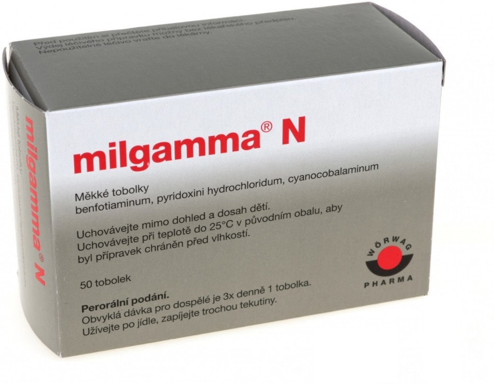 MILGAMMA N 40MG/90MG/0,25MG měkké tobolky 50