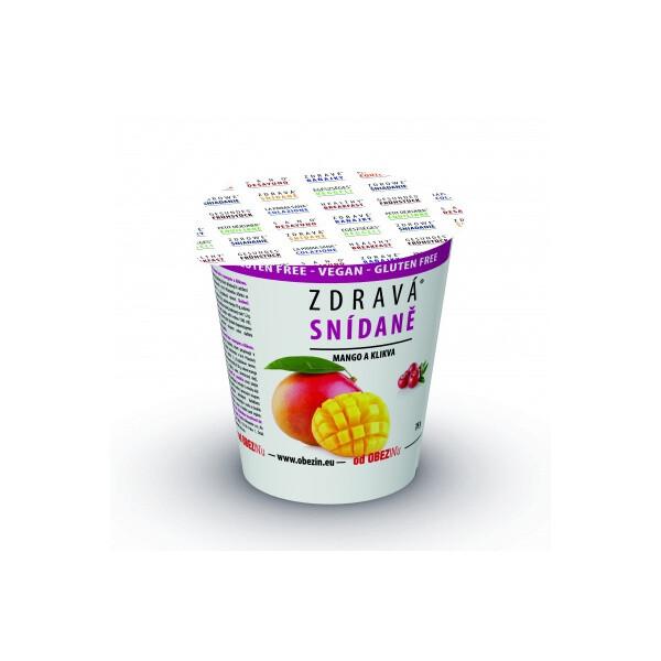 Zdravá snídaně od Obezinu mango a brusinka 78g