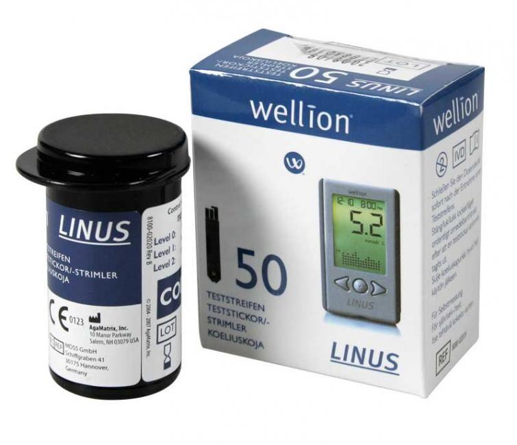 PROUŽKY DIAGNOSTICKÉ WELLION LINUS (PRO ZP KÓD 0085421) INZULÍNOVÝ REŽIM,50KS