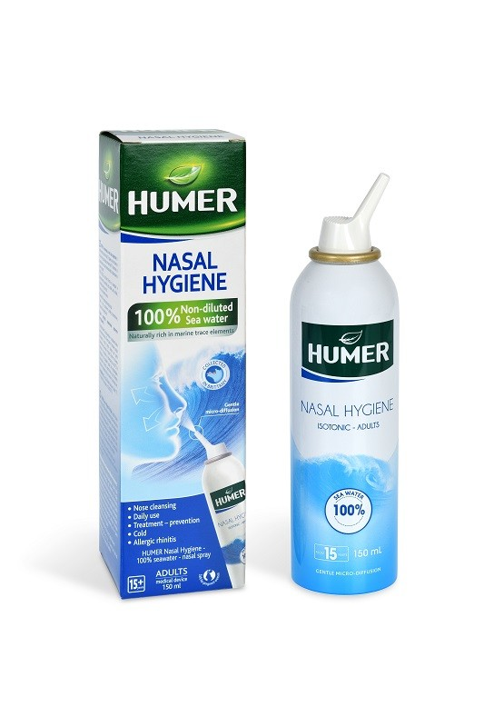 Humer Hygiena nosu 100% mořská voda pro dosp.150ml