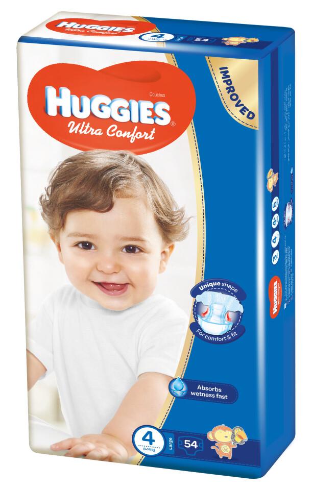 HUGGIES Ultra Comfort vel.4 54ks + dárek HUGGIES Natural Care Single 56ks zdarma