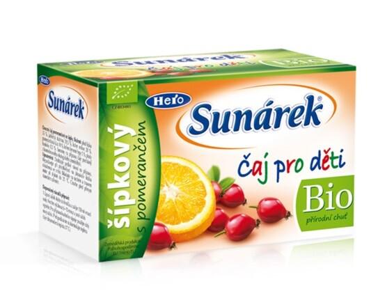 Sunárek čaj dětský šípkový s pomerančem 20 x 1.5g