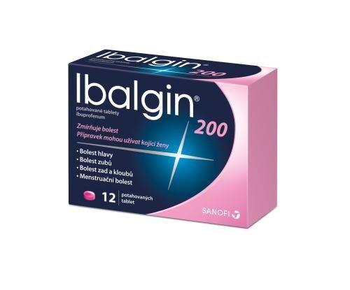 IBALGIN 200 200MG potahované tablety 12