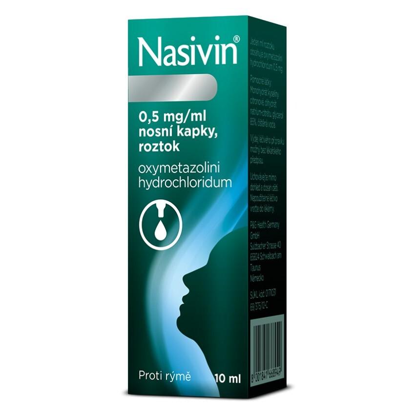 NASIVIN 0,05% 0,5MG/ML nosní podání GTT SOL 10ML