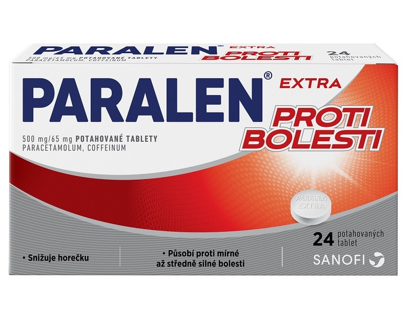 PARALEN EXTRA PROTI BOLESTI 500MG/65MG potahované tablety 24