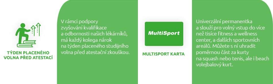Zaměstnanecké benefity BENU - týden volna navíc, multisport karta