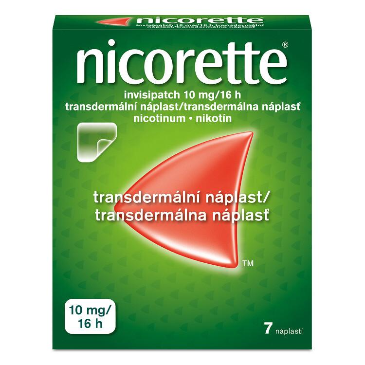 Nicorette® invisipatch 10 mg/16 h transdermální náplast, 7 náplastí