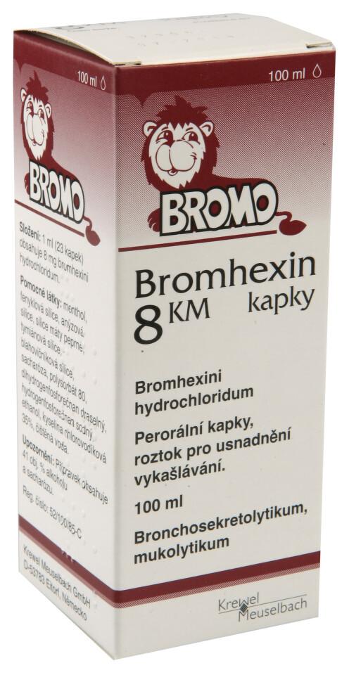 BROMHEXIN 8 KM KAPKY 8MG/ML perorální GTT SOL 1X100ML
