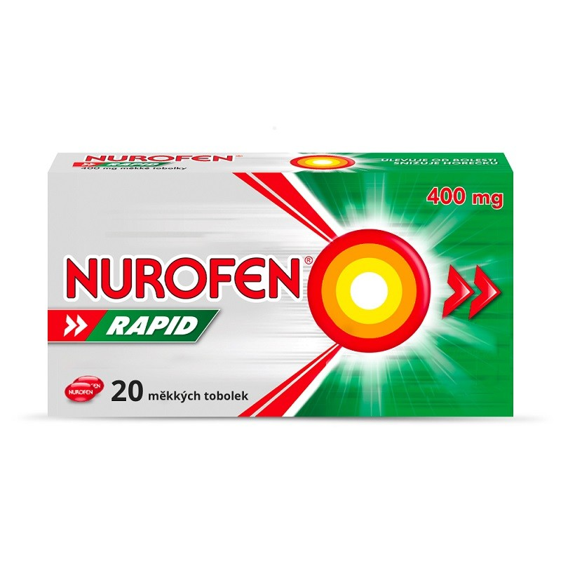NUROFEN RAPID 400MG měkké tobolky 20