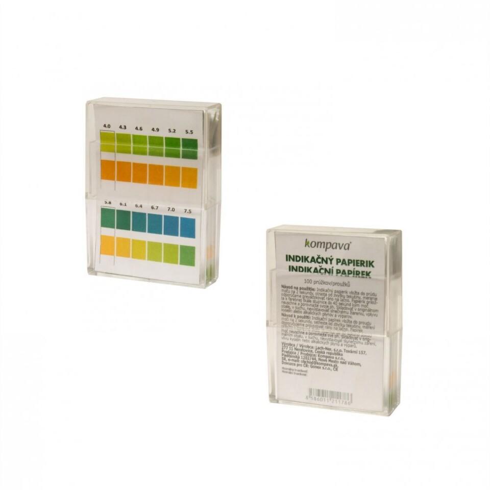 Kompava indikační papírky pH 100 ks