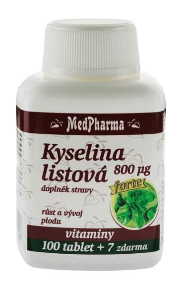 MedPharma Kyselina listová 800mcg tbl.107