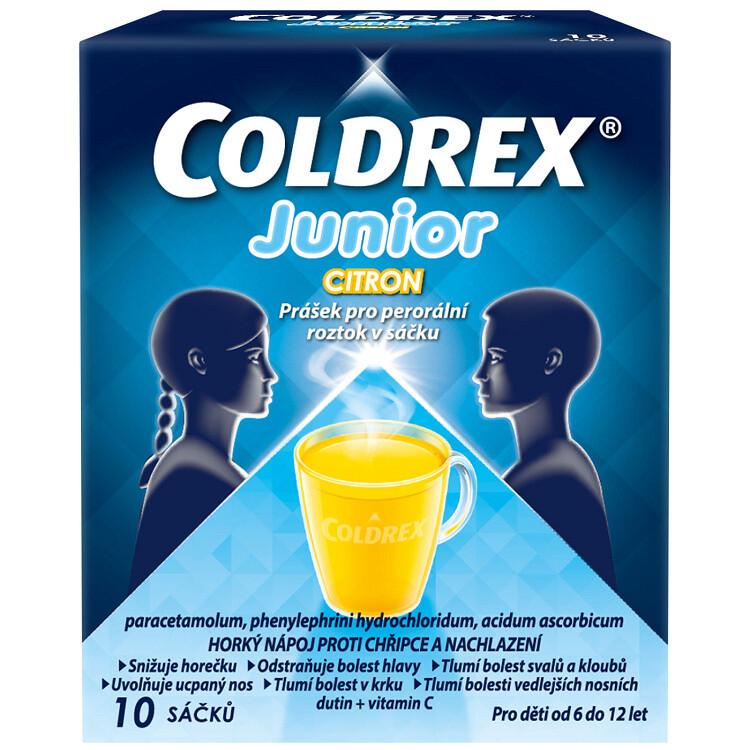 COLDREX JUNIOR CITRON 300MG/5MG/20MG perorální PLV SOL SCC 10 I