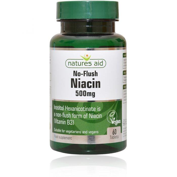Natures Aid L Niacin B3 500 mg 60 tbl.