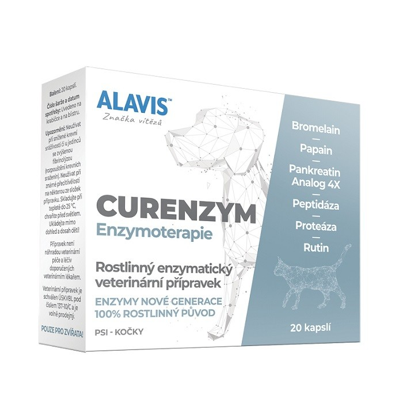 ALAVIS Curenzym Enzymoterapie a.u.v. cps.20